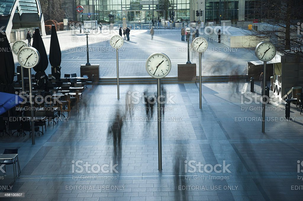 Canary Wharf London's Financial District stock photo