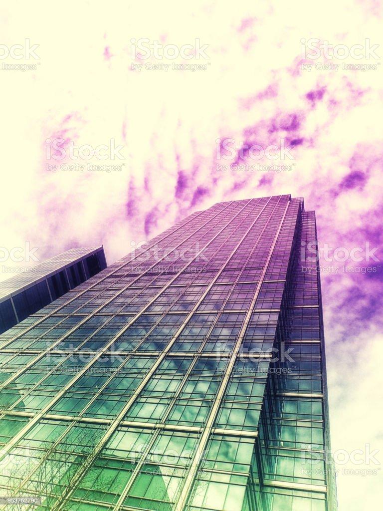 Canary Wharf bloques de oficina - foto de stock