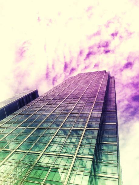 Canary Wharf office blocks stock photo