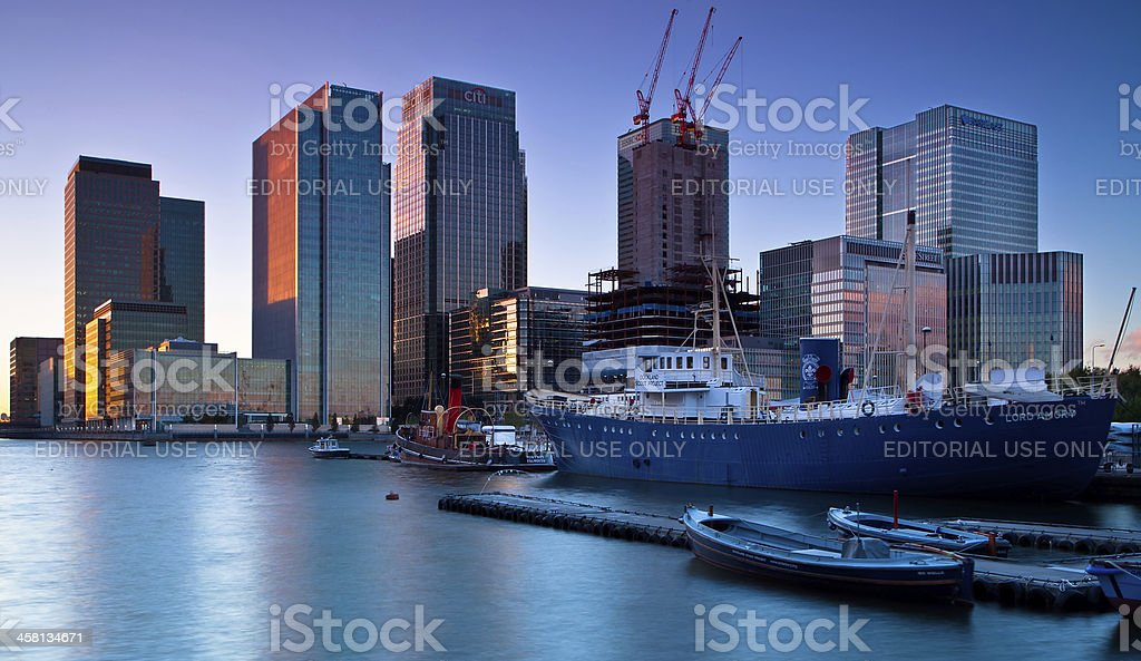 Canary Wharf on the Isle of Dogs London stock photo