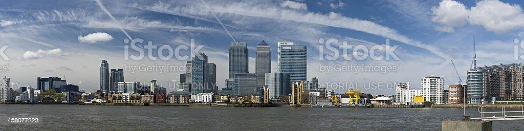 Canary Wharf panorama, London royalty-free stock photo