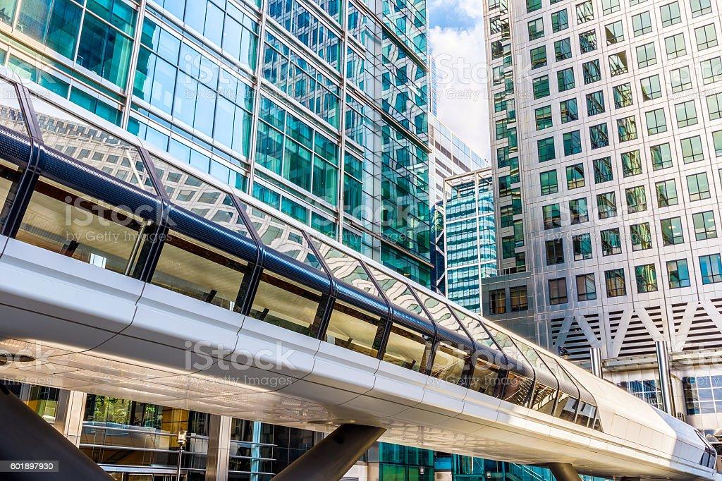 Canary Wharf Pedestrian Bridge stock photo