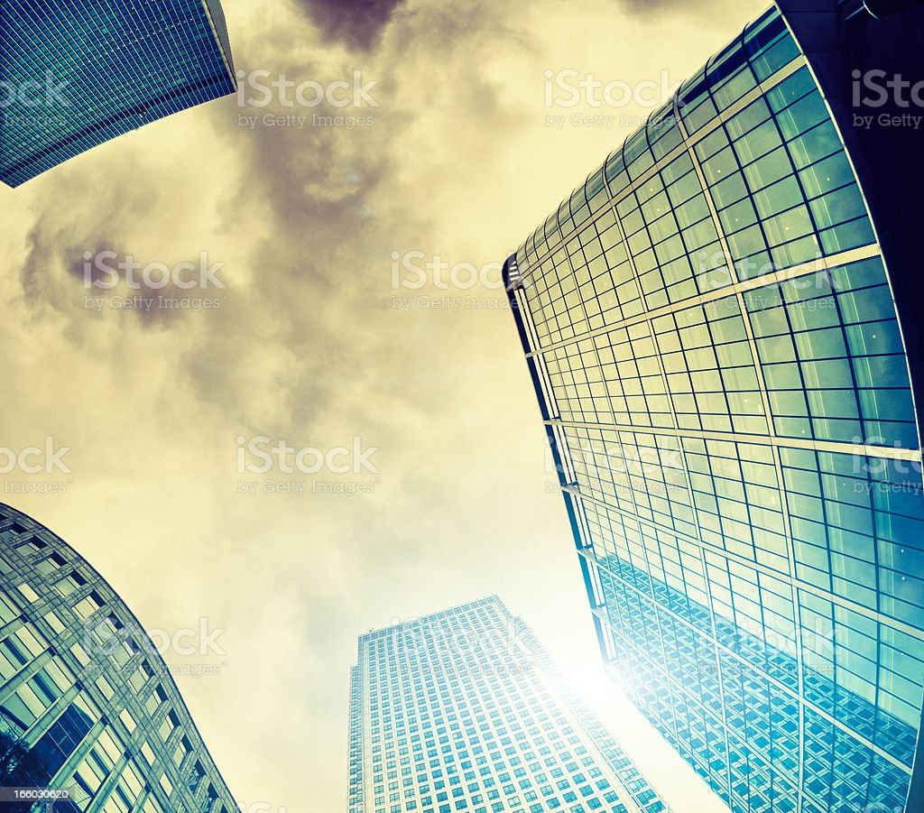 Canary Wharf skyscraper in London UK royalty-free stock photo