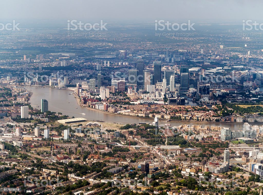 Canary Wharf skyscrapers, London stock photo
