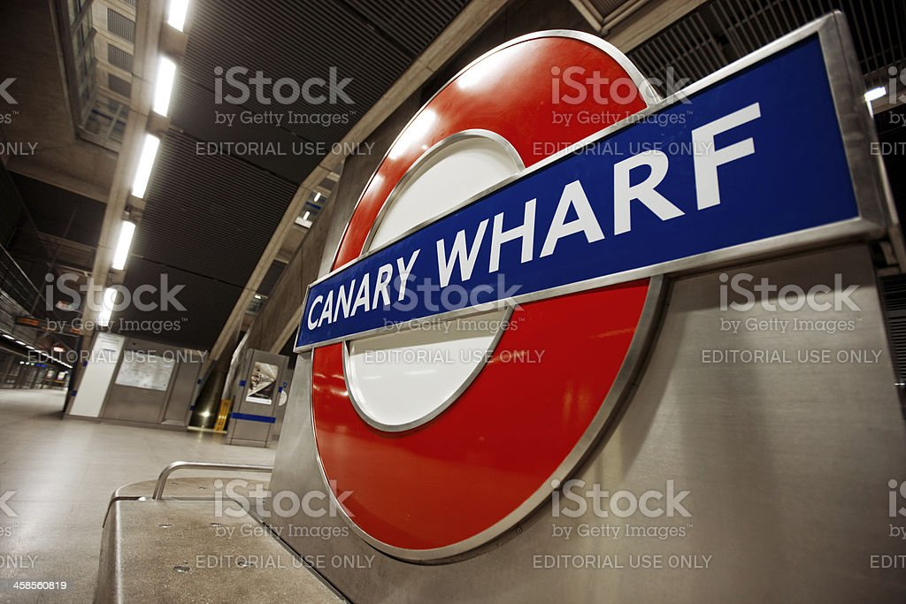 Canary Wharf  Station, London stock photo