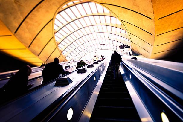 U-Bahn-station Canary Wharf in London – Foto