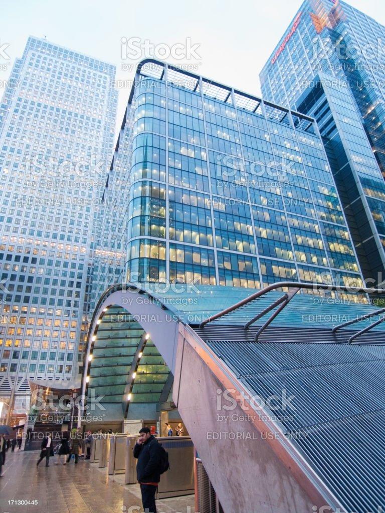 Canary Wharf Underground Station, London royalty-free stock photo