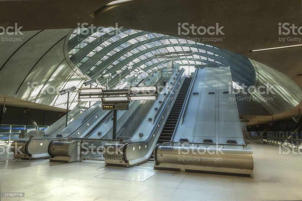 Canary Wharf Underground Station stock photo