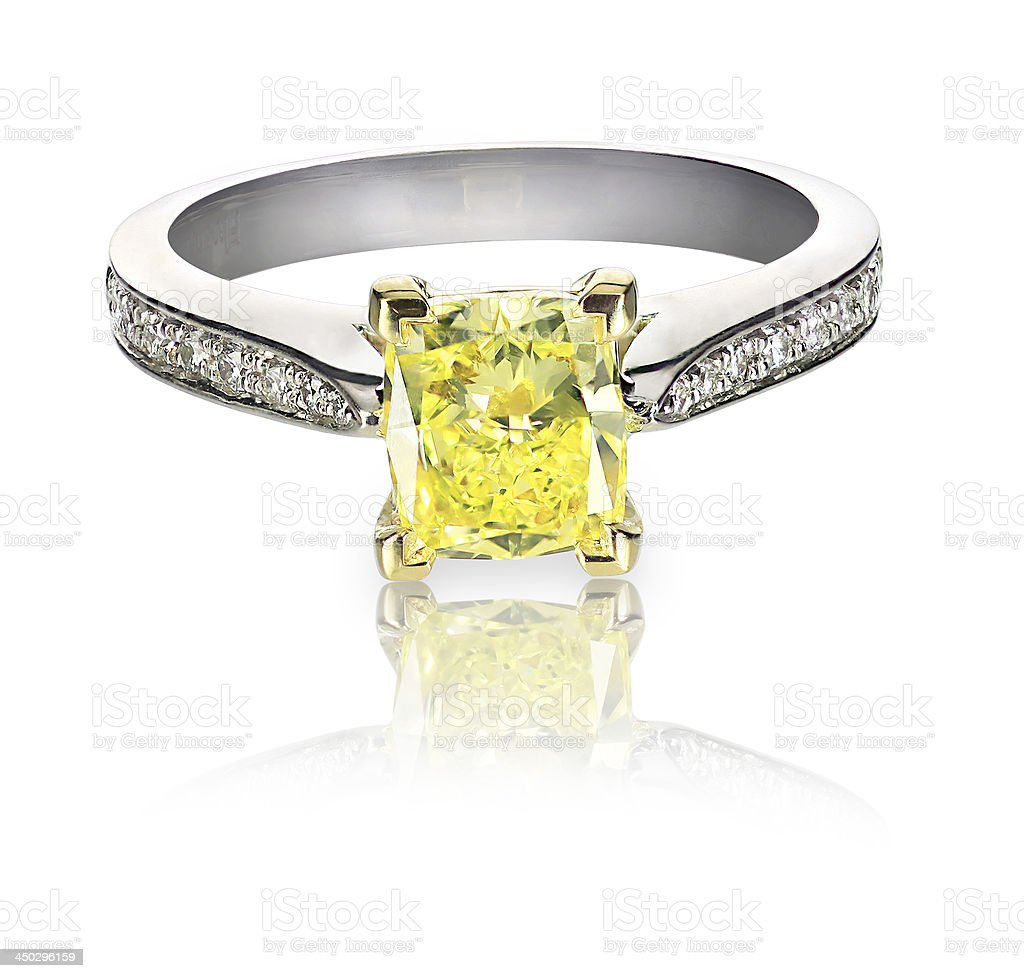diamond engagement platinum i canary yellow rings immaculate ring ladies