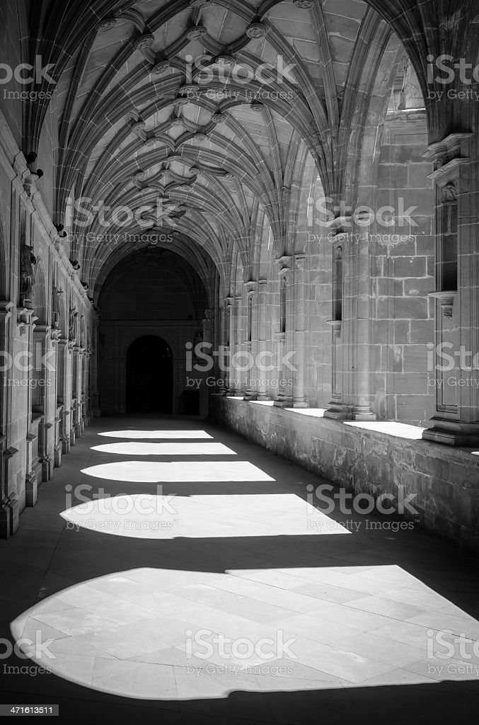 Canas cloister royalty-free stock photo