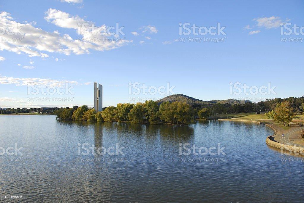 Canberra, ACT, Lake Burley Griffin, Australia stock photo