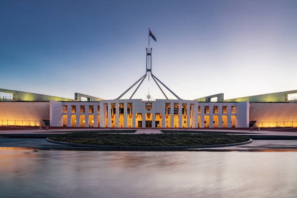 Canberra australisches Parlament House at Night – Foto