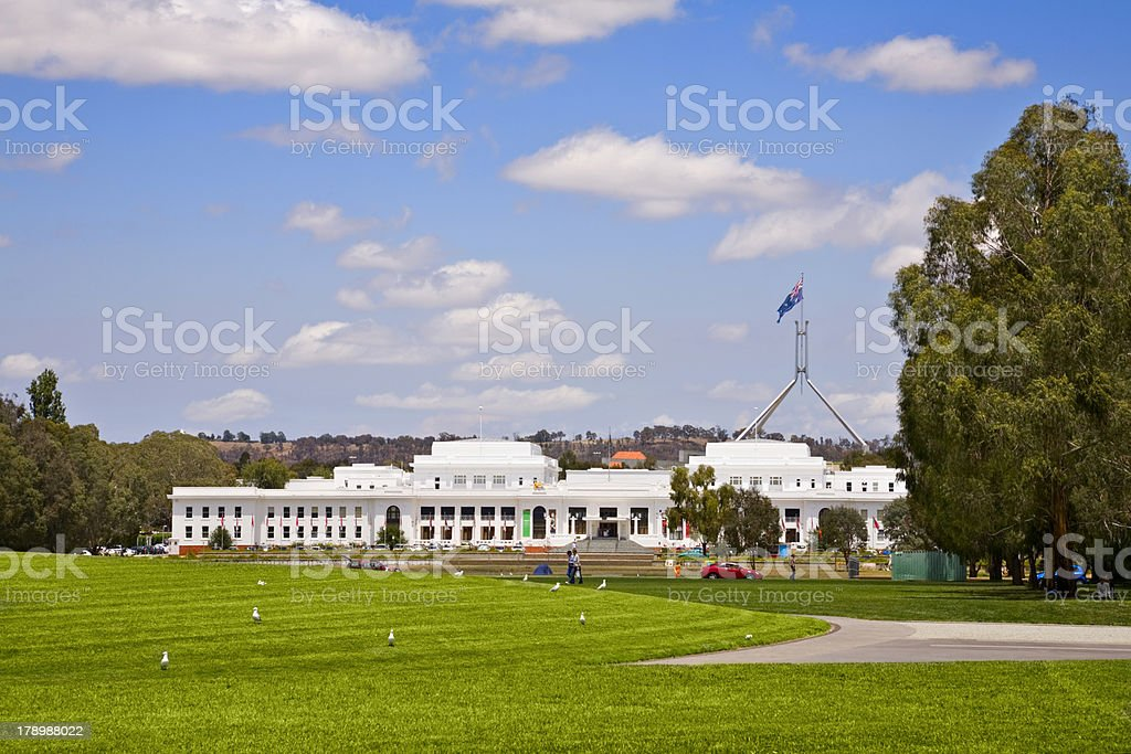 Canberra Old Parliament House stock photo