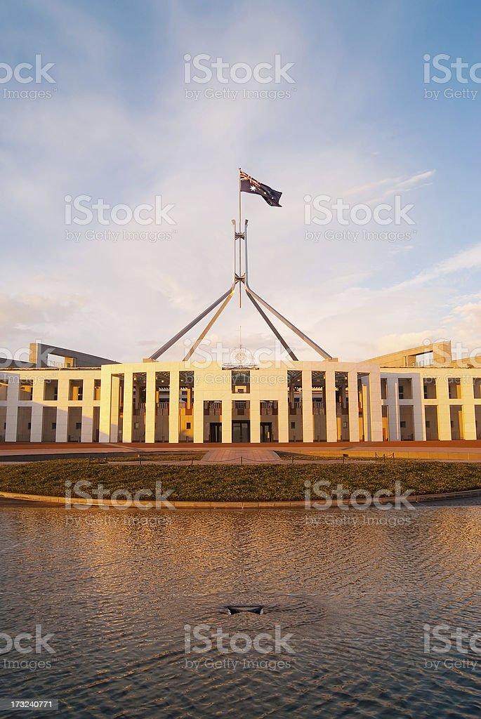 Canberra - Parliament House (Sunrise) royalty-free stock photo