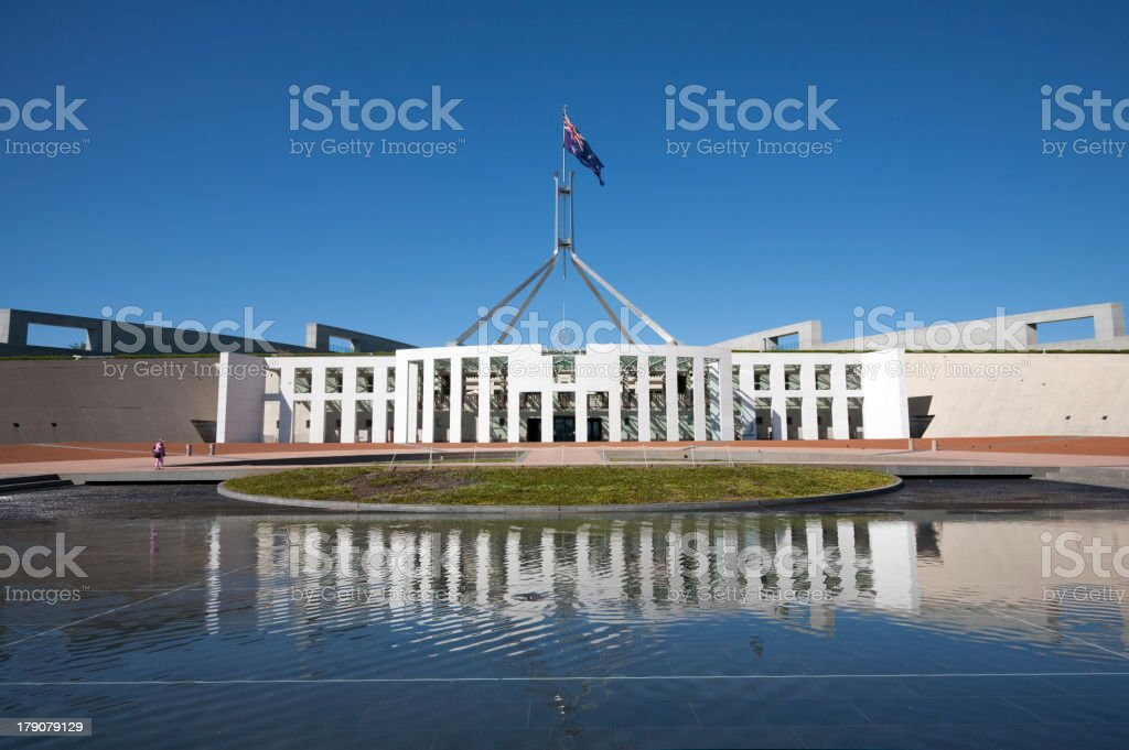 Canberra Parliament House stock photo