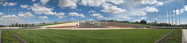 canberra parliament - canberra skyline bildbanksfoton och bilder