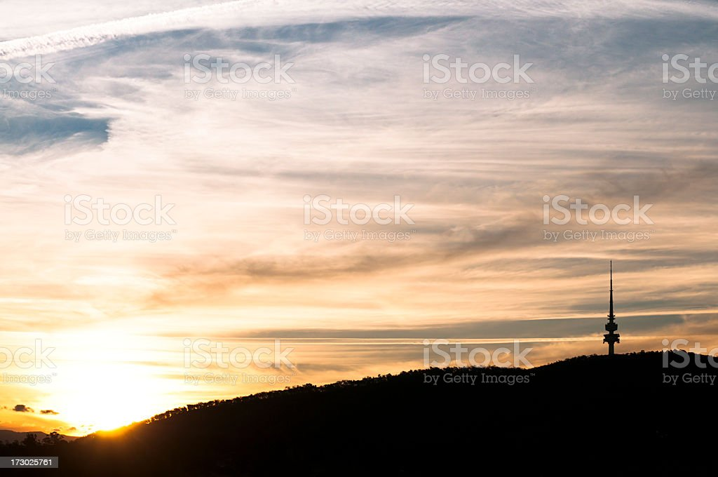 Canberra Sunset royalty-free stock photo