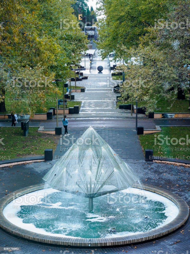 Canberra Times Fountain stock photo