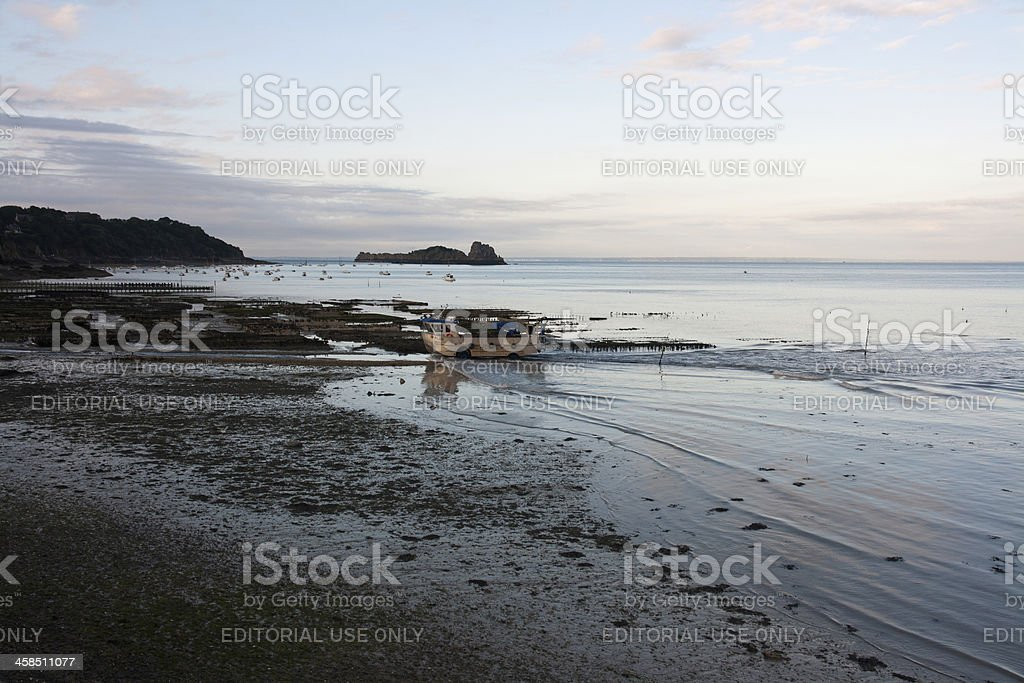 Cancale - Oysters and mussels farm's stock photo