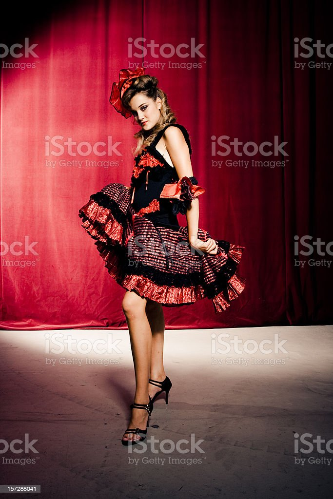 Cancan dancer stock photo