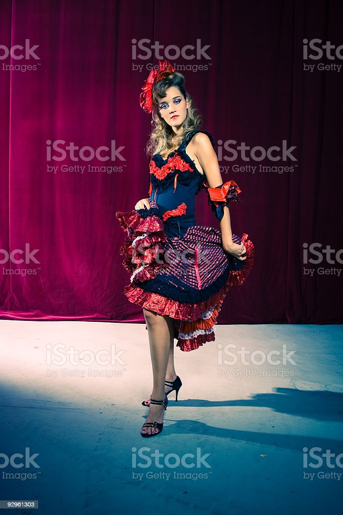 Cancan dancer royalty-free stock photo