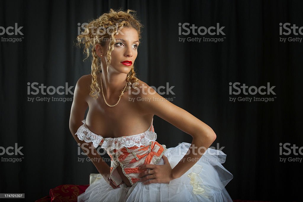 Can-Can Girl stock photo