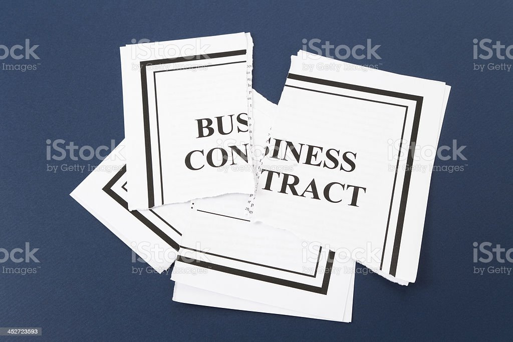 Cancel Business Contract stock photo