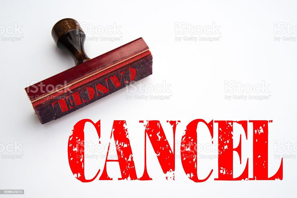 Cancel rubber stamp stock photo