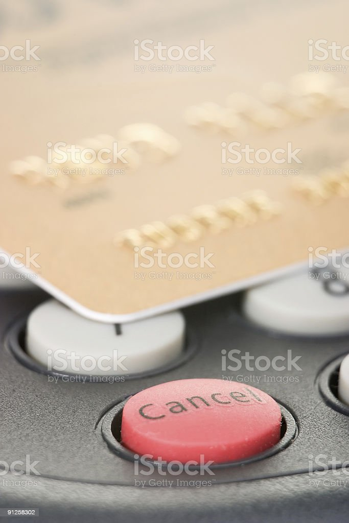 Cancel the transaction royalty-free stock photo