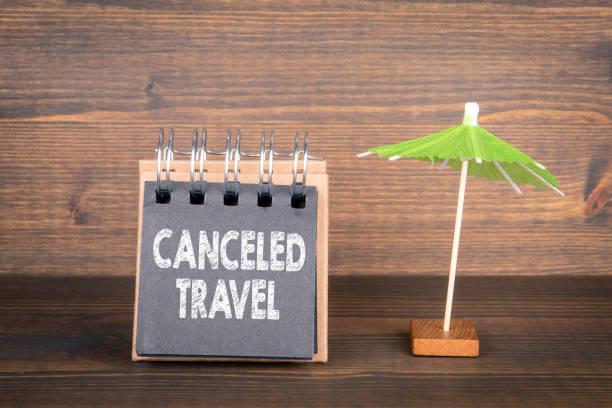 Stornierte Reise. Reisepläne. Änderung der Pläne für Reisen und Urlaub – Foto