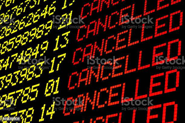 Cancelled flights on airport board picture id469088908?b=1&k=6&m=469088908&s=612x612&h=uqsgbbdxvuiwgdol5k50xyixlmyomilronm5y txe5e=