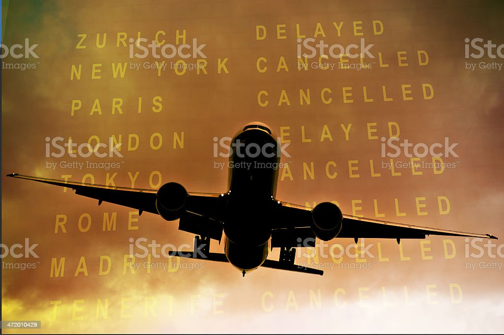 Cancelled flights stock photo