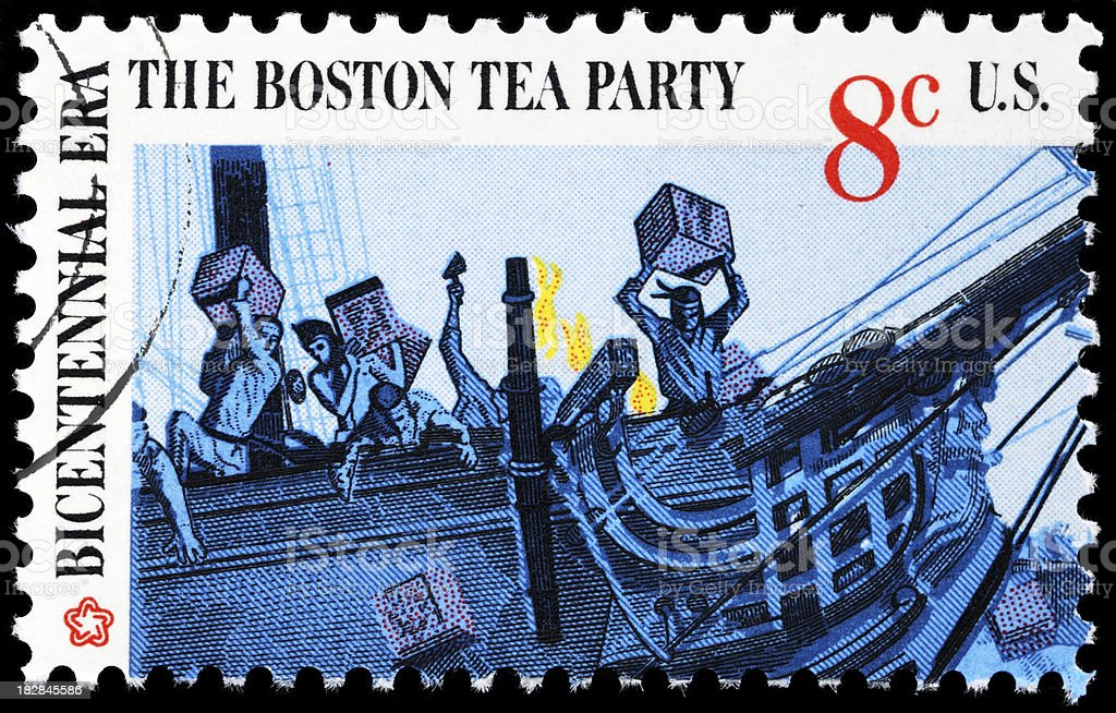 Cancelled Postmarked Stamp Boston Tea Party