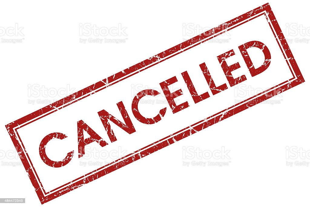 cancelled red square stamp stock photo