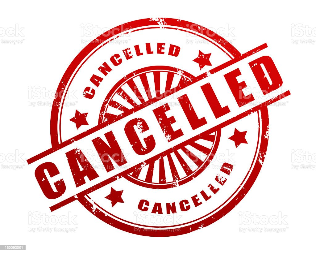 Cancelled Rubber Stamp royalty-free stock photo