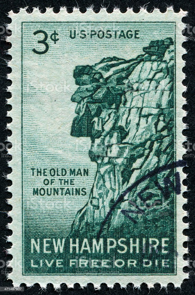 Cancelled Stamp Of New Hampshire royalty-free stock photo