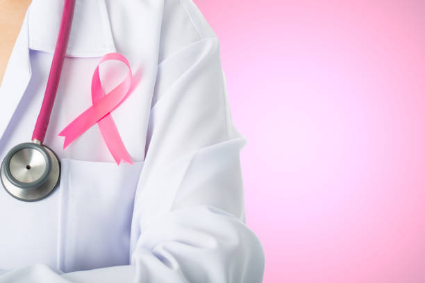 medizinische stick schleife für das gesundheitswesen - mammografie stock-fotos und bilder