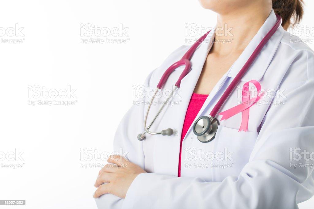 Cinta médica palo del conocimiento del cáncer - foto de stock