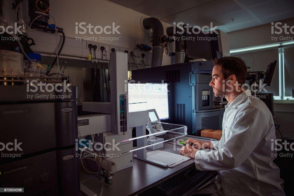 Patient personal health care taken by a specialist biochemist in a...
