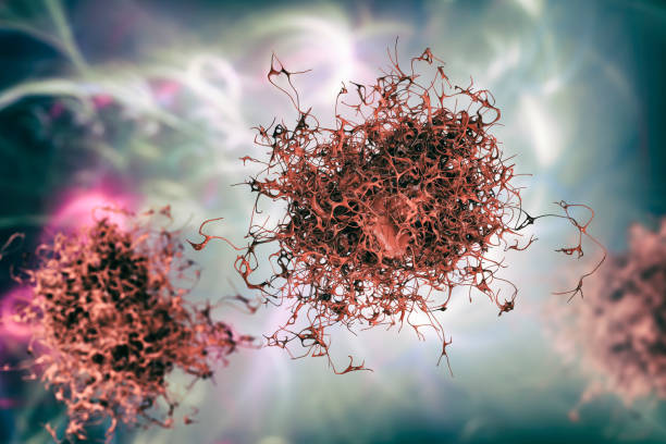 Cancer cell, illustration stock photo