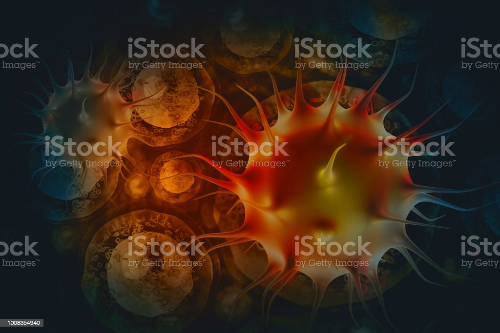 Cancer cells stock photo