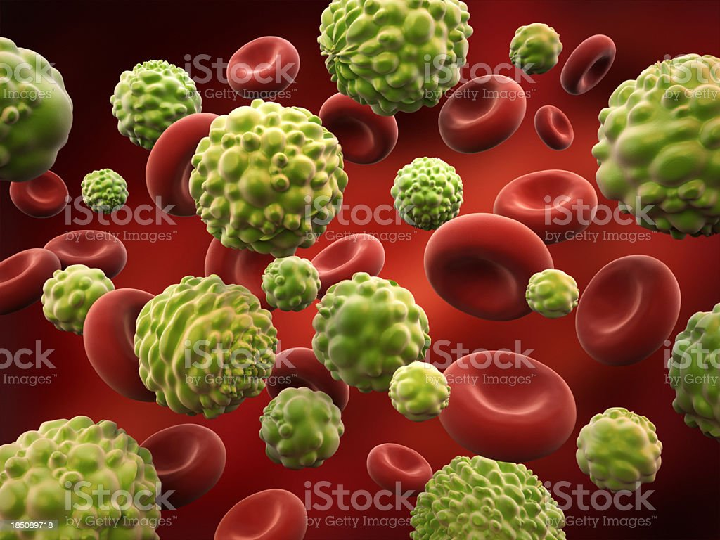 Cancer cells royalty-free stock photo
