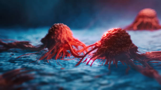 Cancer cells vis stock photo