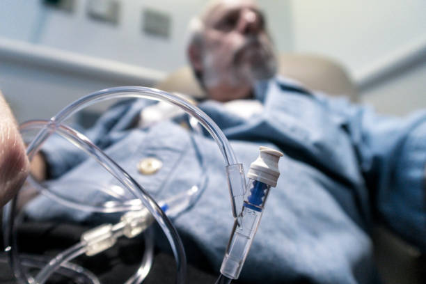 Krebstherapie Medikament IV Röhren in der Nähe – Foto