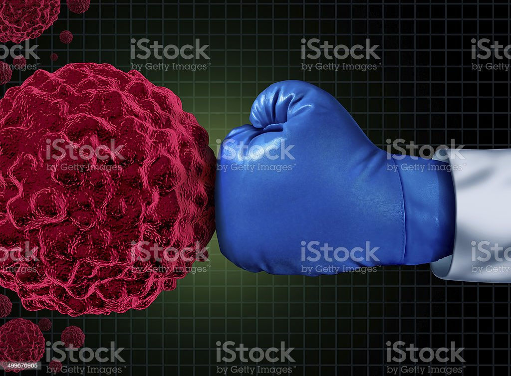 Cancer Fight stock photo
