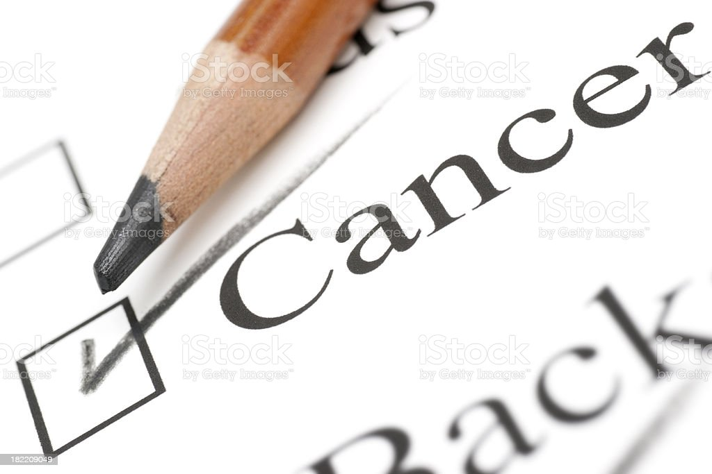 cancer medical check list royalty-free stock photo