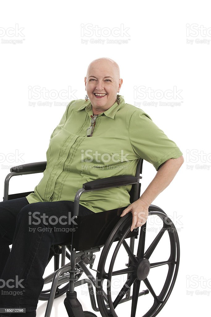 Cancer Patient in Wheelchair stock photo