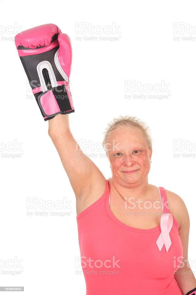 Cancer Survivor - Winning royalty-free stock photo