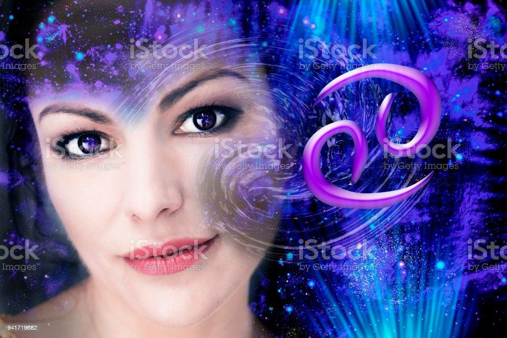 Cancer zodiac sign stock photo