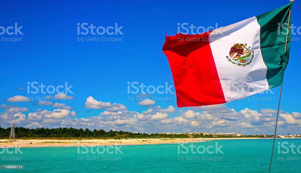 Playa de Cancún Mexico stock photo